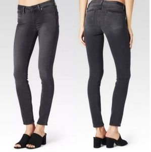PAIGE Verdugo Ankle Gray Skinny Jeans 27